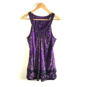 INC International Concepts purple blouse large